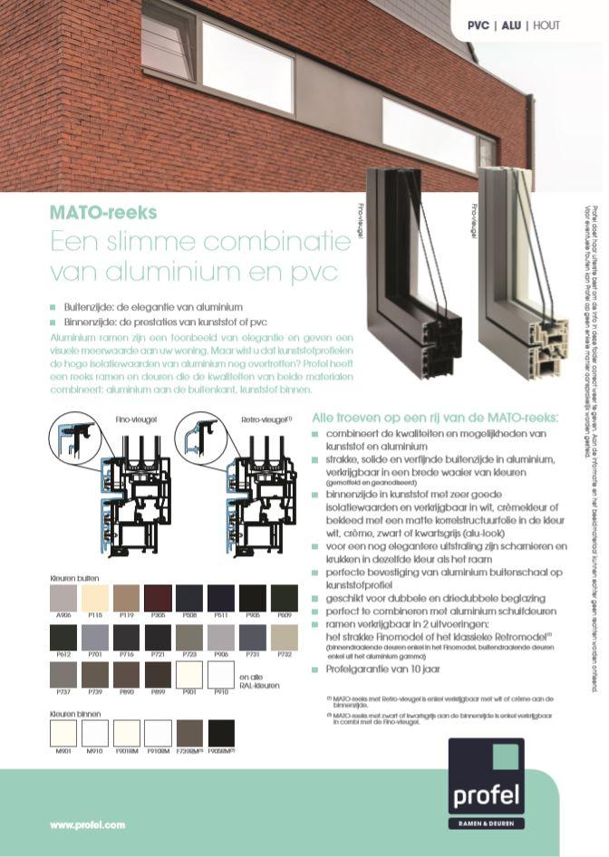 Châssis alu PVC Profel brochure
